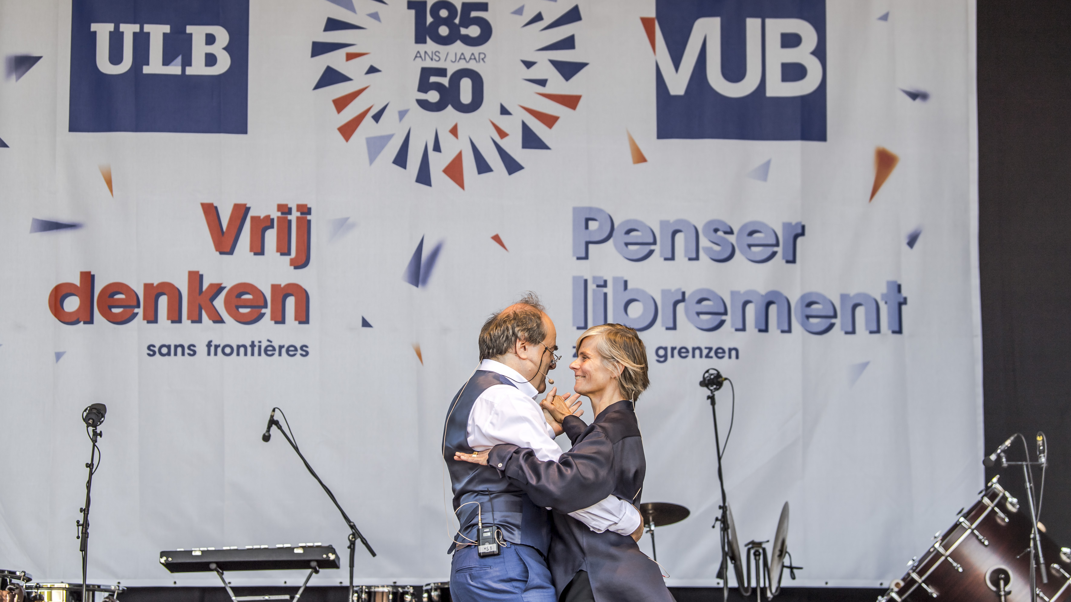 Vub And Ulb Start Academic Year Together With Plea For Closer Cooperation Between Communities Vub 50j Ulb 185j